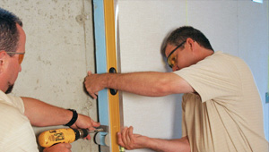 installing a basement wall finishing system in Lawrence