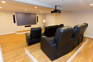 Basement theater installed in Nashua