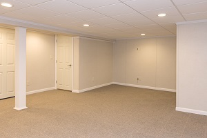 A complete finished basement system in a Salem home