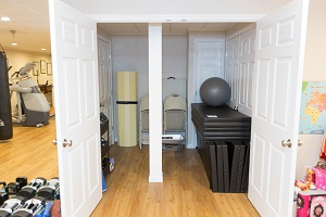 TBF finished basement with home gym in Lowell
